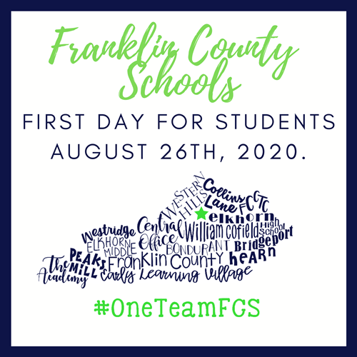 FCS August 26th is the first day of school for students.